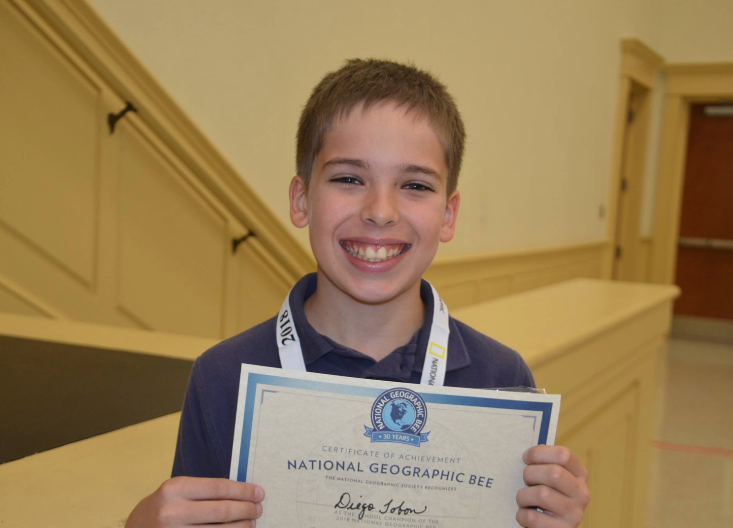 AHN Sixth Grader Claims Geography Bee Win