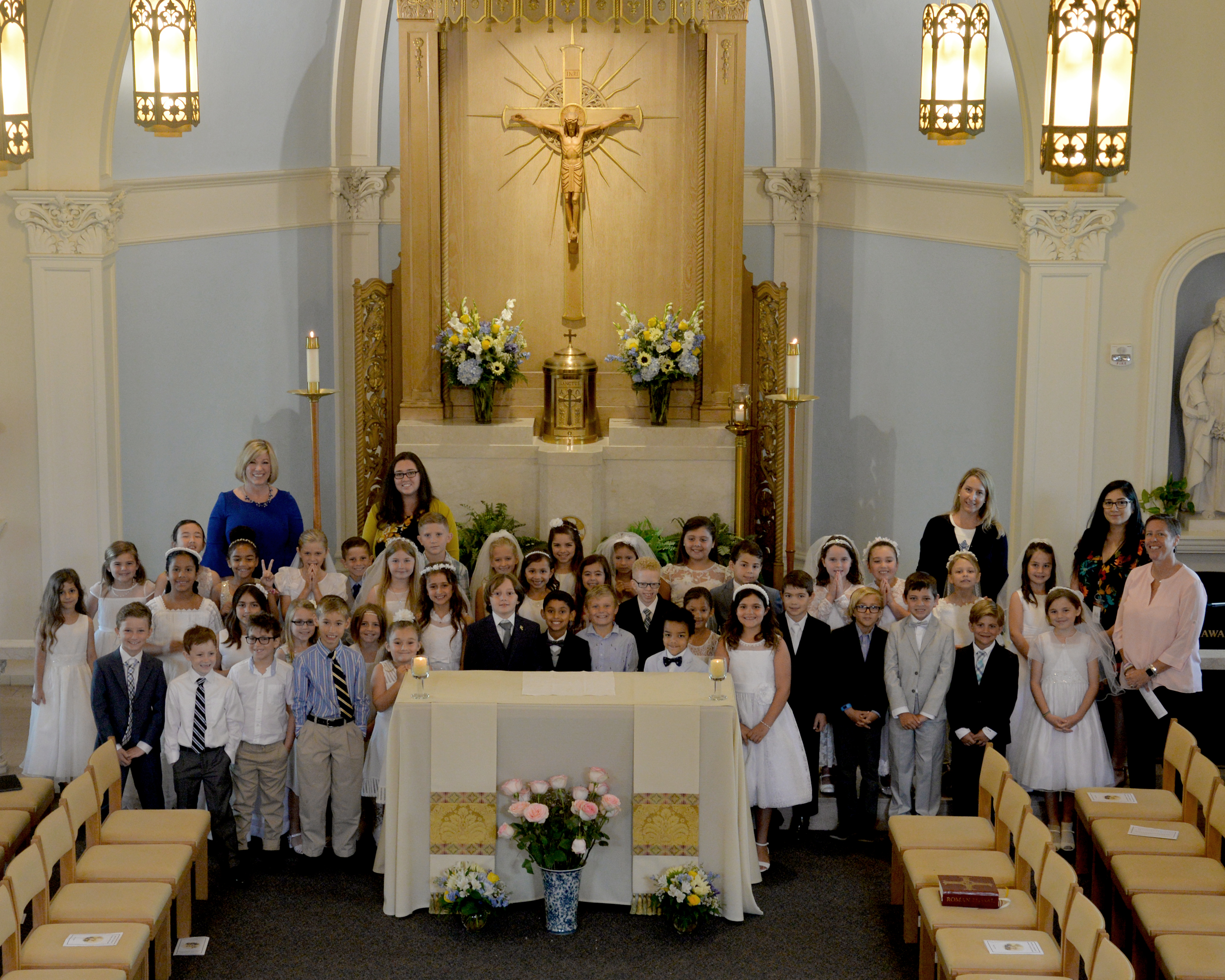 Second Grade Celebrates First Holy Communion