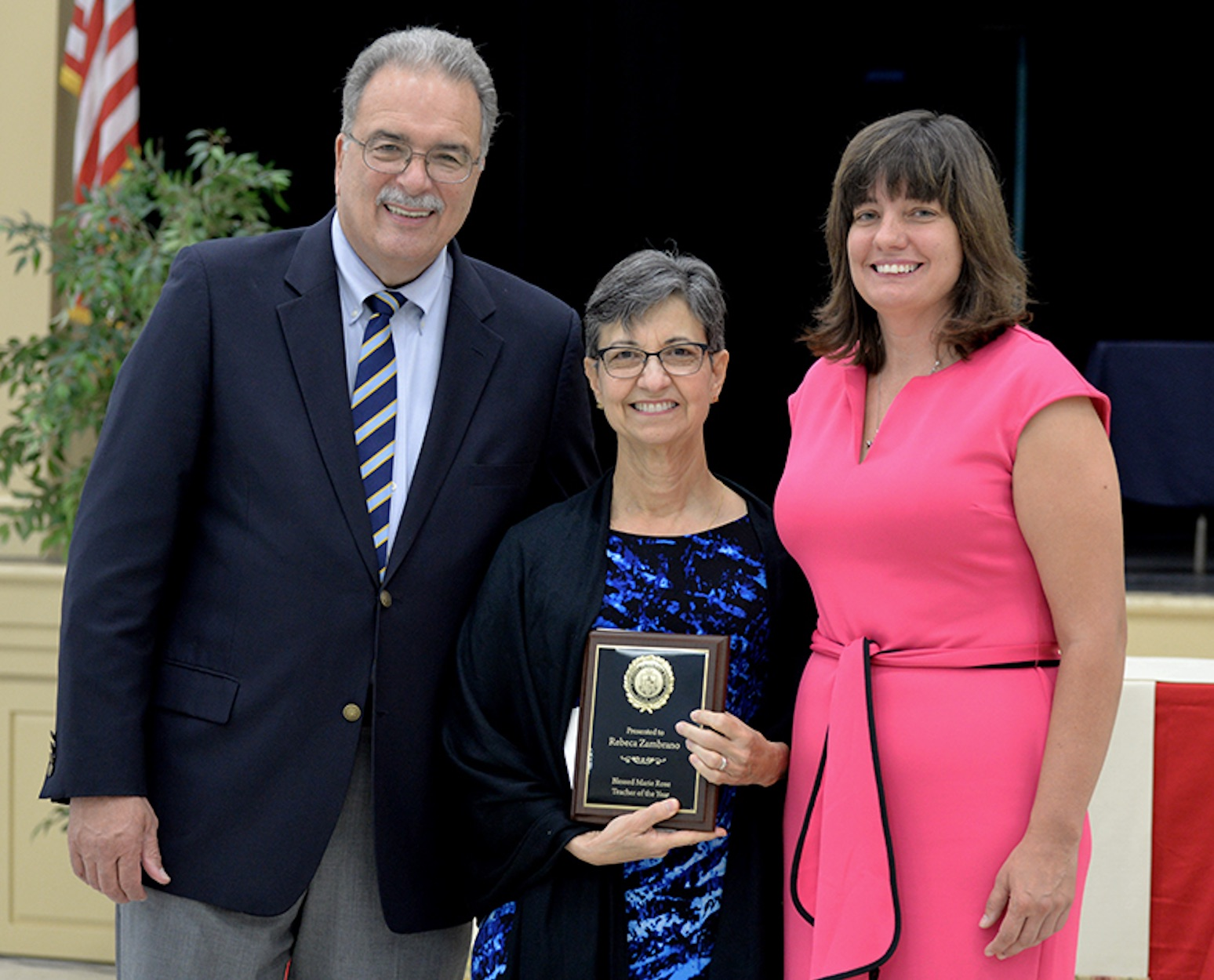Inaugural Blessed Marie Rose Teacher of the Year, Rebeca Zambrano